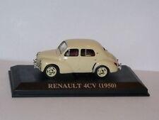 voiture 1/43 IXO Altaya renault : 4 CV  1950 crème boite vitrine