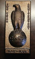 J I Case Eagle 150th Anniversary Cast Iron Doorstop Bookend Plaque Bronze Finish