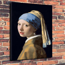 "The Girl With The Pearl Earing Printed Canvas Picture A1.30""x20"" 30mm Deep Frame"