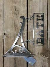 bath, home decor, art, country, cottage, metal sign
