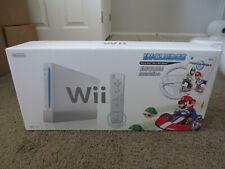 NEW Nintendo Wii Mario Kart Racing Bundle White Console System