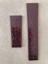 Genuine  Cartier    Brown     Leather   Watch Strap 22-18  mm