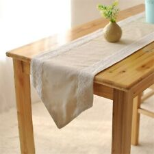 Lace Tablecloth Camino de mesa Decoración de encaje Mantel de café para el hogar