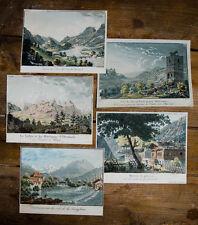 c1850 Schweiz la Suisse Bern Brienzersee Jungfrau Grindelwald 5 Kupfer