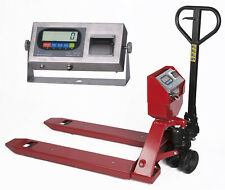 NEW Industrial warehouse Pallet Jack scale with Built-in Printer 5000 lbs x 1 lb