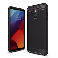 Custodia cover Rugged Armor Carbon Design case TPU flessibile NERA pr LG G6 H870