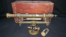New listing Antique W.L. E Gurley Wye Level #537 & Wooden Box Late 1800's Rare