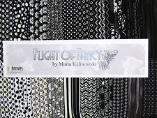 "80 18""x22"" Fabric Fat Quarters - Benartex Flight of Fancy Black and White"