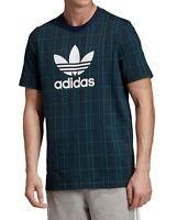 Adidas Mens T-Shirts Green Size XL Crewneck Logo Graphic Tartan Tee $35 019