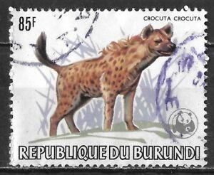Burundi #601a Used 2007 Hyena Definitive w/ WWF Overprint $100 SCV