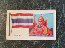 Rare 1930 GOODWIN trade cigarette card FLAGS OF ALL NATIONS - SIAM Thailand