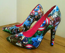 Avengers customised decoupage shoes