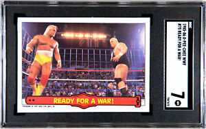 1985 O-PEE-CHEE WWF HULK HOGAN ROOKIE #75 READY FOR A WAR! SGC 7 NM #7047670