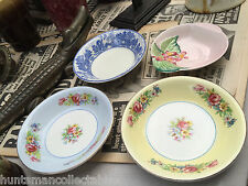 Collection of 4 Vintage English Porcelain Pin Dishes Myott Carlton Ware Barretts