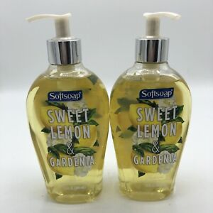 2 Bottles Softsoap Sweet Lemon & Cardenia Moisturizing Hand Soap 13 fl oz Each