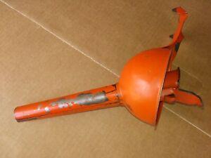 Vintage metal oil funnel