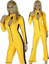 SECOND Ladies Kill Bill Kung Fu Master Warrior Costume Catsuit Jumpsuit -M 12-14