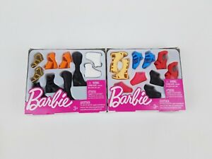 2018 Barbie Fashion Accessory Shoe Pack, Tall & Curvy Petite lot of 2