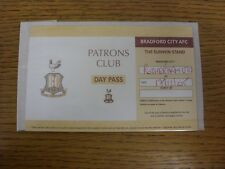 17/12/2005 Ticket: Bradford City v Rotherham United [Patrons Club Day Pass] . An