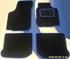 BMW 3 SERIES E46 98 - 05 BLACK CAR MATS WITH BLUE EDGE