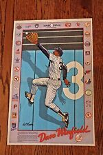 Vintage 1980's Dave Winfield Cartoon Poster New York Daily News N.Y. Yankees