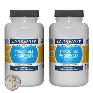 Trisodium Phosphate / 1 Lb / 2 Bottles / 99.9% Pure Food Grade / Fine Crystals