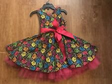 Girl's Day of the Dead Dress Flower print Size 2T!!!