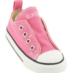 Converse Sneakers Pink Hidden Closure Under the Tongues  Infant Girls Size 2