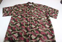 Stock Options Robert Stock 100% Silk Artwork Pocket Shirt XL Extra Large