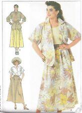 Vintage Women's Long Full Skirt Loose Fit Top Rockabilly Sewing Pattern UNCUT