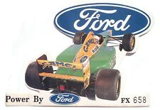 LIMITED EDITION 1992 BENETTON FORD FORMULA 1 PROMOTION ADHESIVE BACKED STICKER