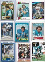 Detroit Lions Vintage Lot (30) Different w/ Rookies Karras Landry Sims Hipple