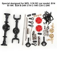Metal Upgrade Parts for WPL 1/16 B14 B24 B26 C14 C24 RC Car Vehicle Crawler Kits