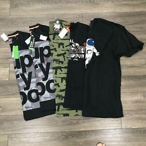 New Superdry / Rothco T-Shirt Lot Bundle 5 Tees Mens Sizes Large & XL Black