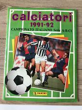 CALCIATORI 1991/92 PANINI 1991 1992 Italy Sticker Album  - 100% Complete