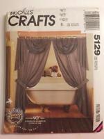 1990 McCall's Craft Pattern 5129 Curtain Drapes Jabots Valance New Uncut Pattern