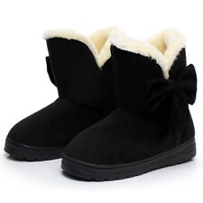 Winter Boots Women's Faux Fur Suede Mid Calf Warm Snow Fashion Size 5 6 7 8 9