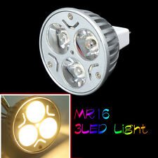 New Warm White 3LED Solar Landscape Spot Light  Garden Light Lamp Bulb 12V MR16