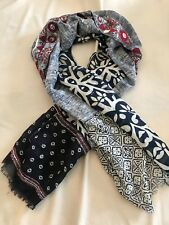 Altea Printed Scarf With Embroideries