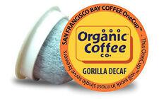 72 ct. Gorilla Decaf Organic Coffee OneCup Keurig K-cup brewer