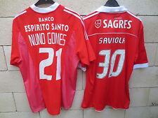 Lot 2 Maillot BENFICA jersey shirt ADIDAS NUNOS GOMES SAVIOLA Lisbonne football