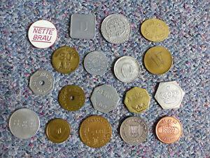 LOT 18 verschiedene Biermarken bzw. Wertmarken, verschienene Metalle u. Herkunft