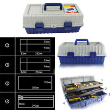 3 Layer Portable Tool Box Storage Tool Case Model Building Foldable Handle&Tray