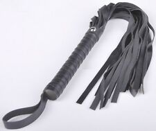 "Black Quality Faux Leather 23"" Whips Ruler, Hen Party Role Play Penalty Whip"