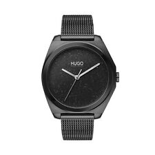 Hugo Boss Imagine Black IP Mesh Bracelet Ladies Watch - 1540026