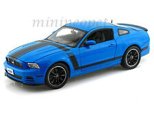 SHELBY COLLECTIBLES 450 2013 FORD MUSTANG BOSS 302 1/18 BLUE with BLACK STRIPES
