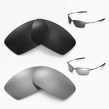 New Walleva Polarized Black + Titanium Lenses For Oakley Square Whisker