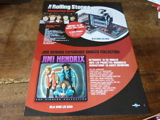 THE ROLLING STONES - JIMI HENDRIX 1!FRENCH PRESS ADVERT