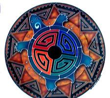 TORTOISE SPIRIT Mandala 2 sided window sticker