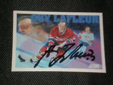 HOF GUY LAFLEUR 1991-92 SCORE SIGNED AUTO CARD #401